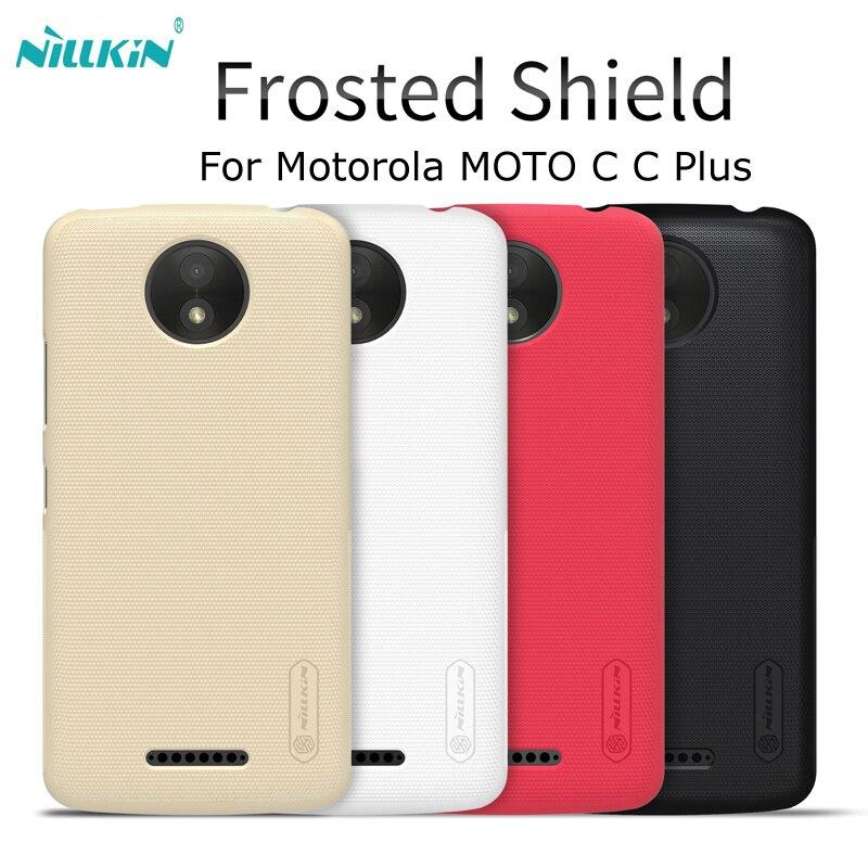 NILLKIN супер матовый чехол для Motorola MOTO C Plus Матовая Жесткий Пластик задняя крышка для Motorola Moto C Plus /мото c Дело Капа