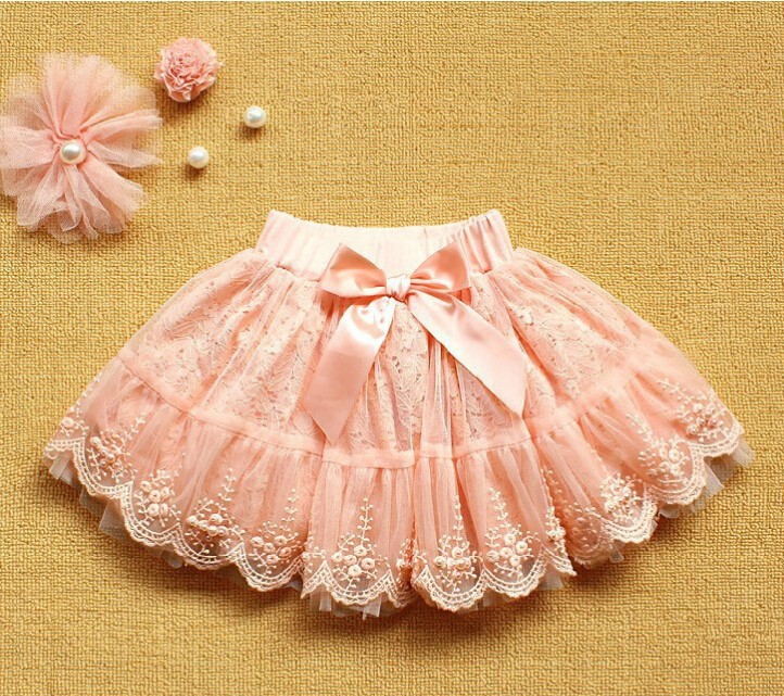 048f284b7f651 Children Pink Skirts Kid Clothes Baby Girl Multilayer Tulle Party Dance Bow  Cake Tutu Skirts Summer