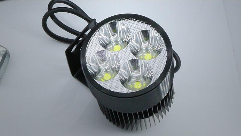 Black Waterproof 12V-85V 20W Motors Car Lights Headlight Bright Front Lamp 4 LED