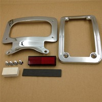 Aftermarket Free Shipping Motorcycle Parts Motorcycle Chrome Laydown Curved License Plate Bracket Tag Holder