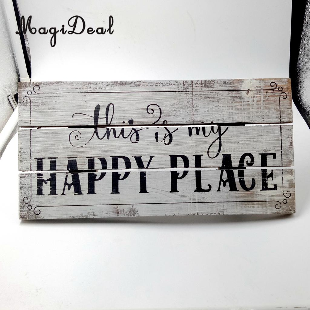 MagiDeal Vintage Wooden Plaque Shabby Chic Signs Home Decoration Wooden  Gift Wall Door Hanging Decorative Signs