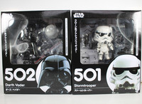 Cute Nendoroid Star Wars The Force Awakens Stormtrooper 501 Darth Vader 502 PVC Figure Collectible Model