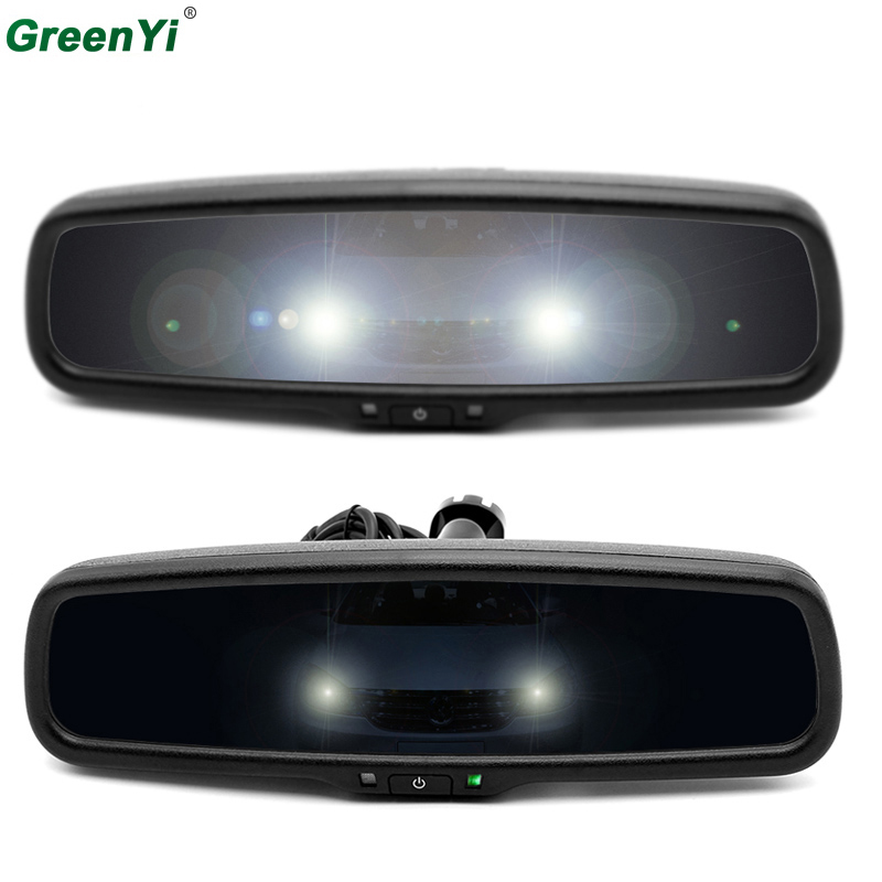 GreenYi Clear Mirror Auto Dimming Interior Rear View Mirror Electronic Support Volkswagen BMW Toyota Ford Honda