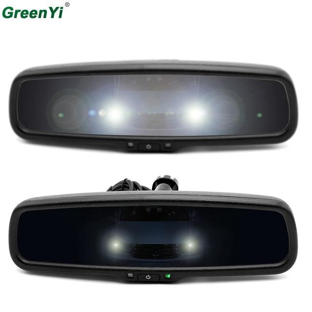 GreenYi Clear Mirror Auto-Dimming Interior Rear View Mirror Electronic Support Volkswagen BMW Toyota Ford Honda Hyundai Kia