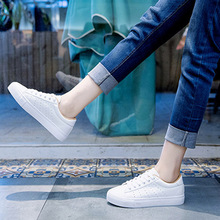 Leather Women Flats White Shoes Platform Spring Autumn Casual Shoes Woman Lace Up Plus Size Female Sneakers Driving nursing Shoe pu leather shoes women white sneakers spring autumn women lace up flats shoes casual woman footwear ladies platform shoes
