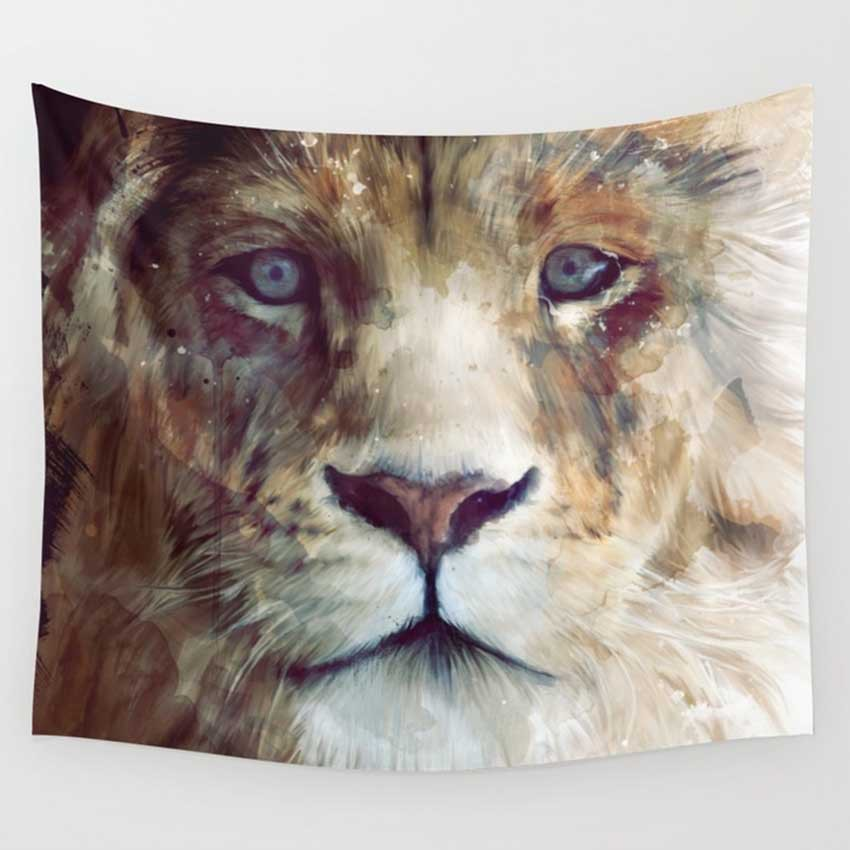 Image 3 - CAMMITEVER Astronaut Lions Deer Abstract Wall Tapestry Mandala Hippie Bohemian Tapestries Home Decor Dropship-in Tapestry from Home & Garden
