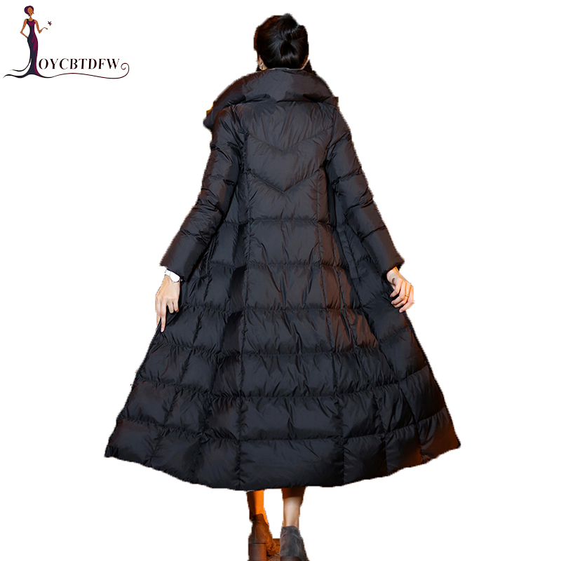 Tops 2018 Autumn Winter Women Down Jacket Coat plus long Fashion Warm Outerwear High Quality Hooded down Coats Female Parkas 334 high quality 2017 free shipping new autumn winter down jacket female cotton women work wear fashion coats black gray green page 9