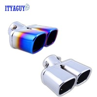 Good Quality 304 Stainless Steel Exhaust For TUCSON Car Exhaust Pipe Tail Pipes Delicate Bluing Process