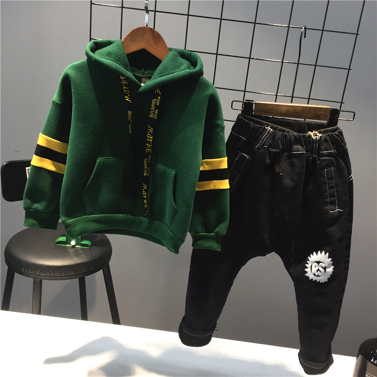 New Arrival Sweatshirt for The Boy New Year Costume Children Clothing Hooded Ribbon Design Sweater Pullover Casual Top Tracksuit