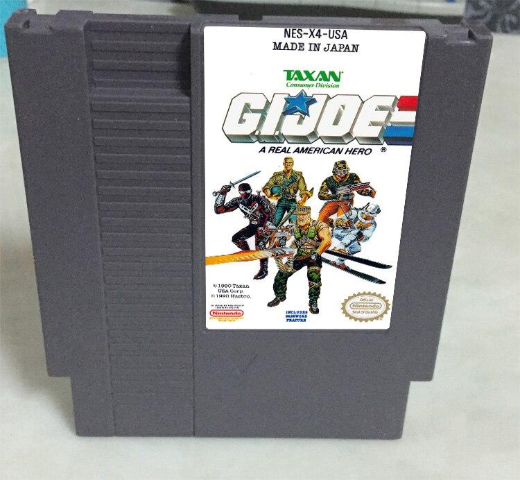 G.I.JOE Game card 72pin 8 bit Game cartridge Drop shipping!