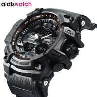 AIDIS Brand Men Sport Watch Army Military Dual Display Analog Digital LED Electronic Quartz Clock Relogio