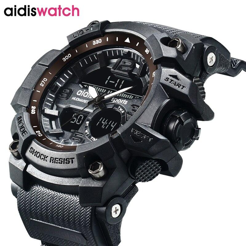 Herrenuhren Männer Sport Uhren Wasserdicht Mode Multifunktions Digital Led Quartz Alarm Date Sport Wasserdichte Uhr Relogio Masculino