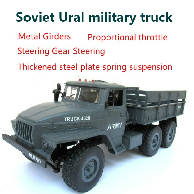 Clever 6x6 Soviet Ural Radio Controlled Cars Off Road Rc Car Parts 1:12 Simulation Rc Crawler Military Truck Body Assemble Toys Gift Fine Craftsmanship Toys & Hobbies Remote Control Toys