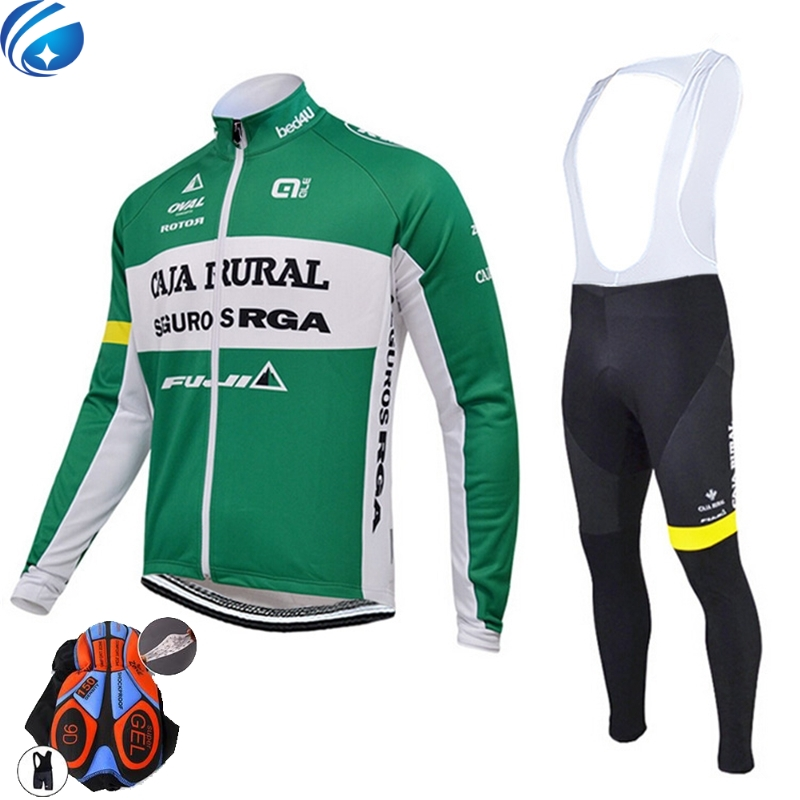 ALE FUJI CAJA RURAL 2016 long sleeve autumn cycling clothes cycle cycling jersey bib pants bicycle kit ropa maillot ciclismo teleyi team cycling outfits mens ropa ciclismo long sleeve jersey bib pants kits bicycle jacket trousers set red black