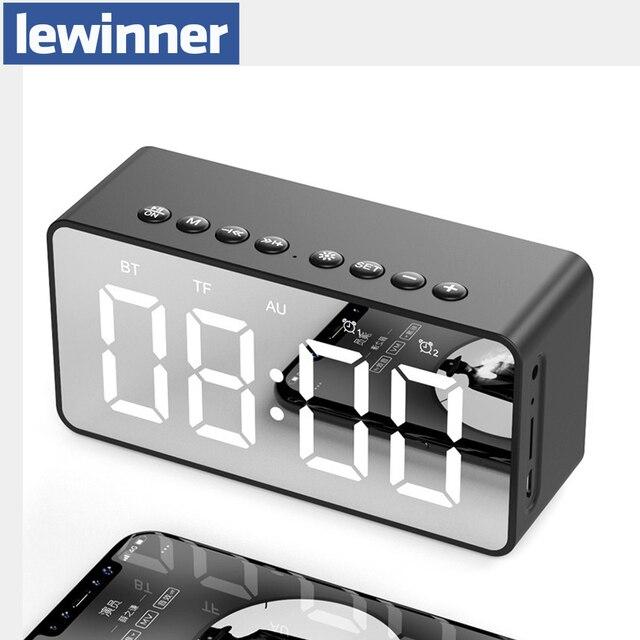Altavoz Bluetooth altavoz columna portátil inalámbrico altavoces Bass Stereo Subwoofer con manos libres TF tarjeta AUX MP3 reloj despertador