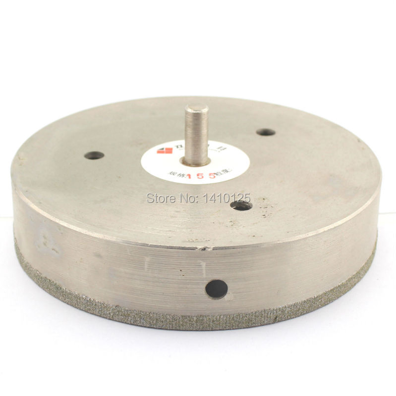 155 mm 6-1/8 inch Diamond Core Drill Bit Hole Saw Cutter Coated Masonry Drilling for Glass Tile Ceramic Stone Marble Granite cnbtr 50mm diamond hole saw drill core bit for marble stone granit tile cutter