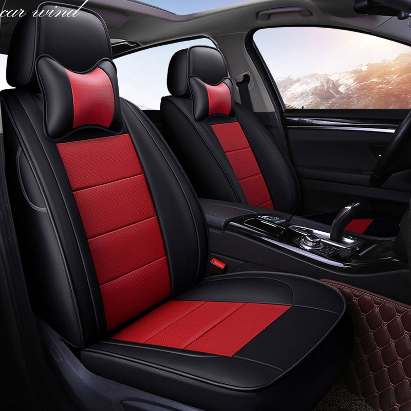 Car Wind Auto automobiles Cowhide leather car seat cover For Mitsubishi Lancer Outlander Pajero Eclipse asx car accessories