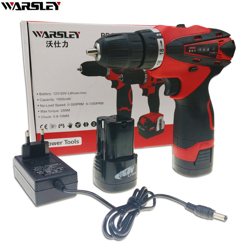 16.8V power tools electric Drill Electric electric drill ing battery drill 2 Batteries Cordless Drill Screwdriver Carton 220v electric drill power tools