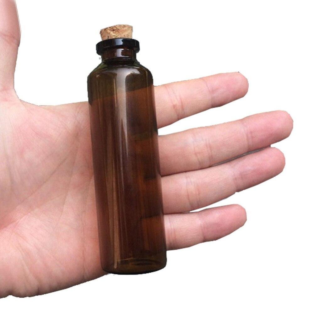 50 шт. 30x100x12.5 мм 50 мл пустой Янтарный Малый Стекло Бутылочки с пробками Стекло флаконы баночки подарки для свадьбы украсить коричневого цвета