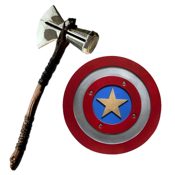 1:1 captain america shield Thor Axe Hammer Stormbreaker captain shield vengers War cosplay Weapons tool image