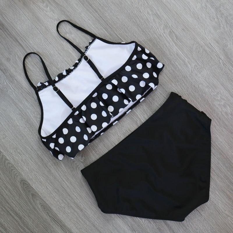HTB1QYTRX4D1gK0jSZFsq6zldVXac 2018 Bikinis Women Swimwear High Waist Swimsuit Halter Sexy Bikini Set Retro Bathing Suits Plus Size Swimwear XXL