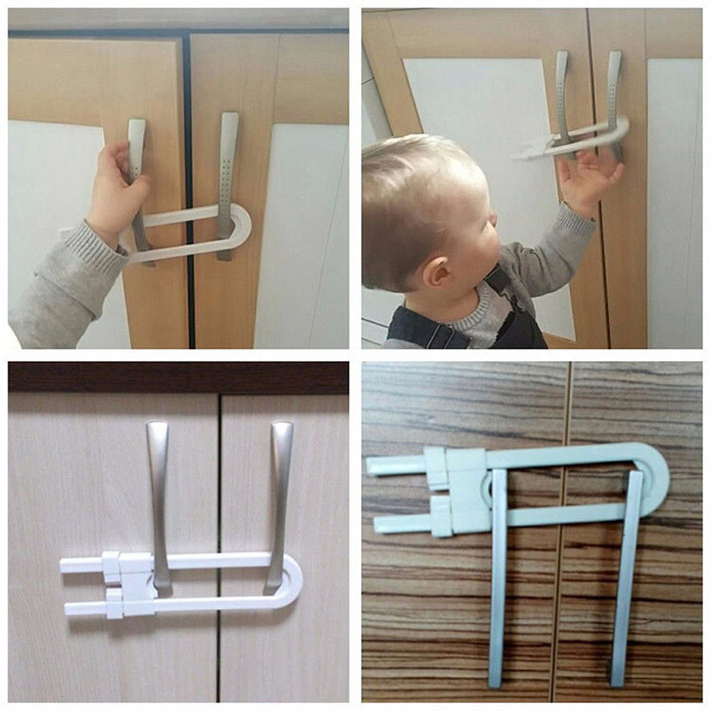 Supply Hot Selling 1/5/10 Pcs Baby Safety Lock U Shape Security For Cabinet Children Cupboard Door Drawer Driving A Roaring Trade