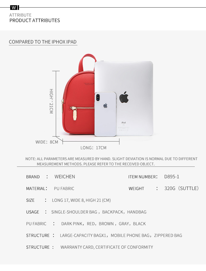 Multi-Function Small Backpack 19