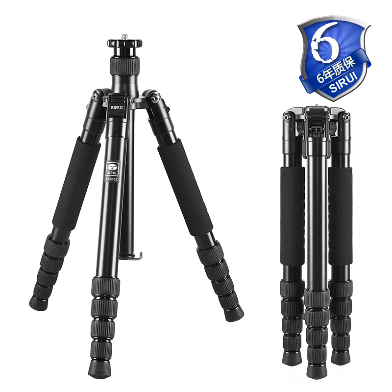 SIRUI T 2005X T2005X Pro Aluminum Tripod Flexible Tripods For SLR Camera 5 Section Carrying Bag 56.9in Height 26.5 lb Load