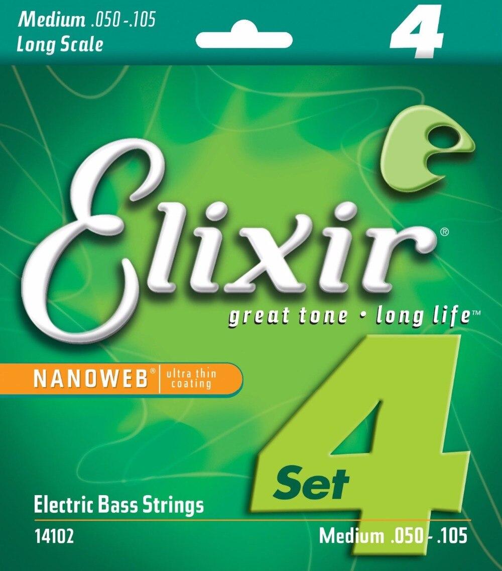 все цены на  Elixir Original 14102 Electric Bass Nickel Plated Steel with NANOWEB Coating Medium Long Scale 50-105  онлайн