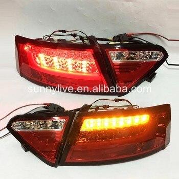 For Audi A5 2007-2009  rear light LED rear light SN red white
