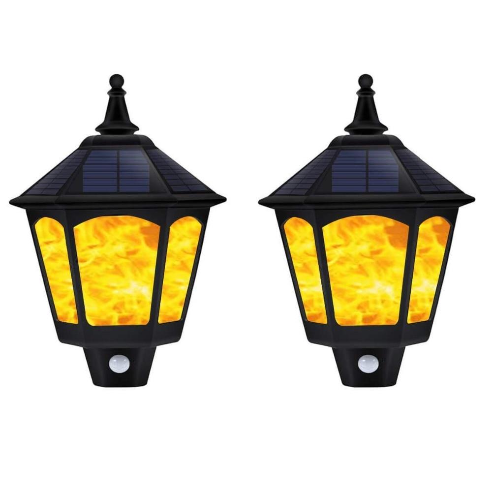 Moderne Étanche Torches Solaires appliques Extérieur Activé Par Capteur de Mouvement de lumières de Mur pour le couloir hôtel chevet led luminaire