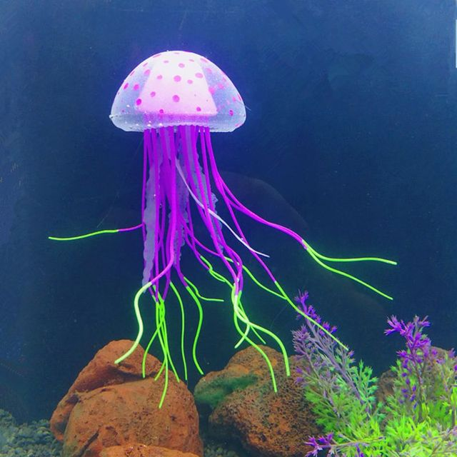 Incredibly Detailed Imitation Floating Fluorescent Jellyfish Decorations  5