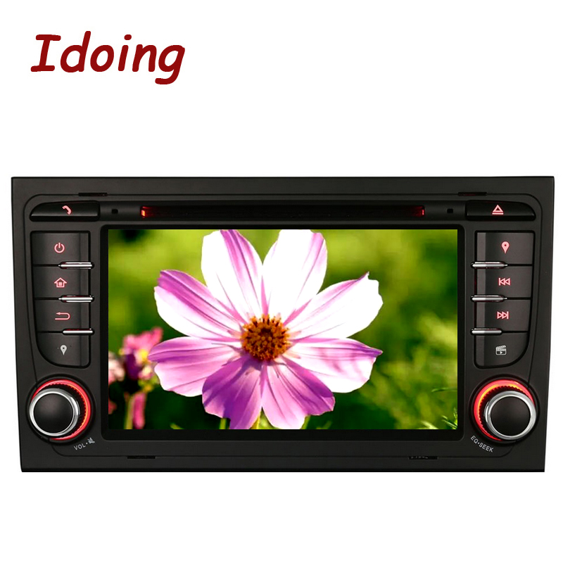 Idoing 2Din Android 8.1Steering Wheel Car DVD Multimedia Video Player For Audi A4 Car DVD Player Multimedia Video Head Device tv