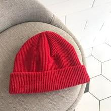 45bdfa91f870c Adult Men Knitted Skullcap Casual Short Thread Hip Hop Hat Beanie Wool Knitted  Beanie Skull Cap Winter Warm Elastic Hats Unisex