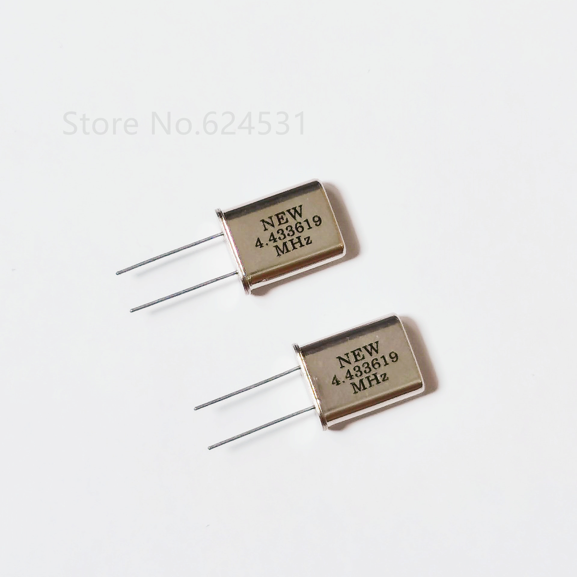 10pcs In-line Passive Quartz Crystal Oscillator HC-49U 4.433619MHZ 4.433MHZ Crystal Resonator