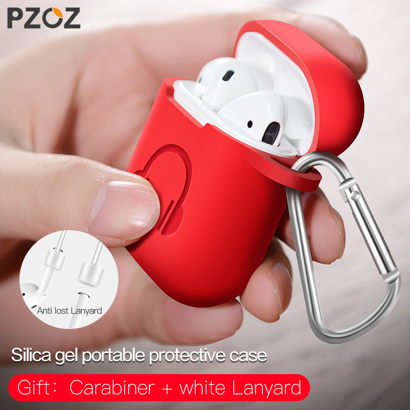 Pzoz For Apple Airpods Case Cover Accessories Air Pods Case Silicone Wireless Bluetooth Headphone Earphone Protector Cas цена