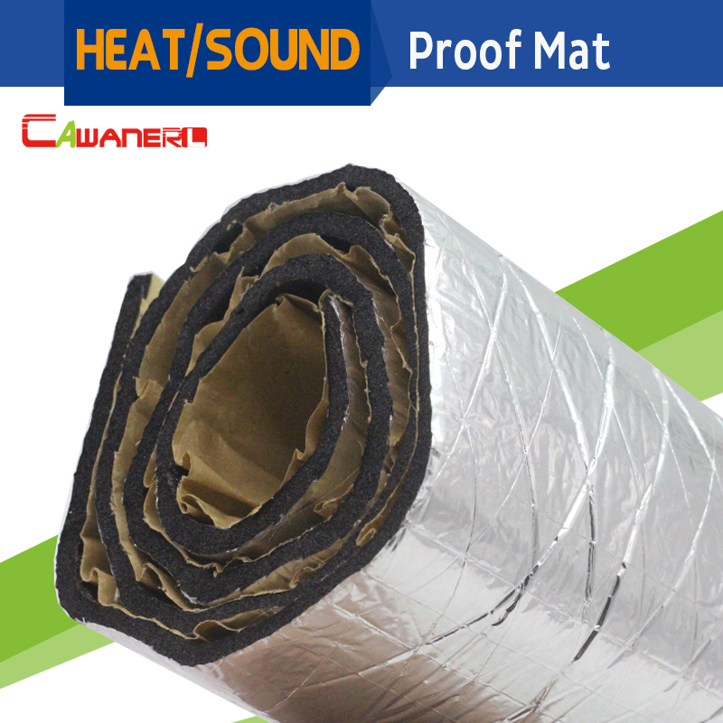 cawanerl 120cm x 100cm car heat reflective sound shield deadener insulation control noise mat proof pad