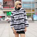 JEPLUDA 2016 New winter jacket women Mandarin Collar Slim Short Thick Warm Winter Women Rex Rabbit Coat Real Natural Fur Coats