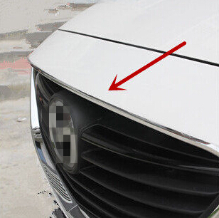 Car front grille trim auto grille decoration cover for Mazda 6 2014 2015,ABS chrome