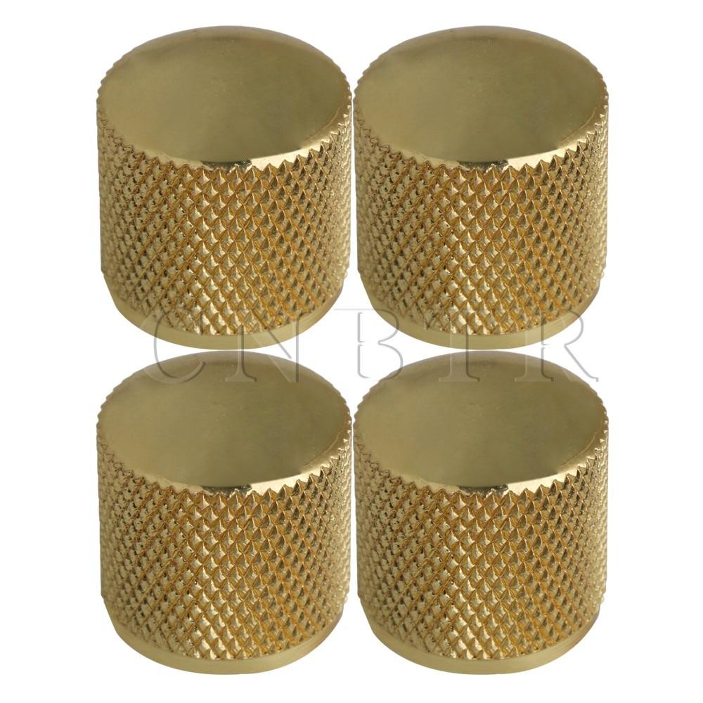 Yibuy 4PCS HEAVY GOLD ELECTRIC GUITAR BRONZE KNOB W/Screw