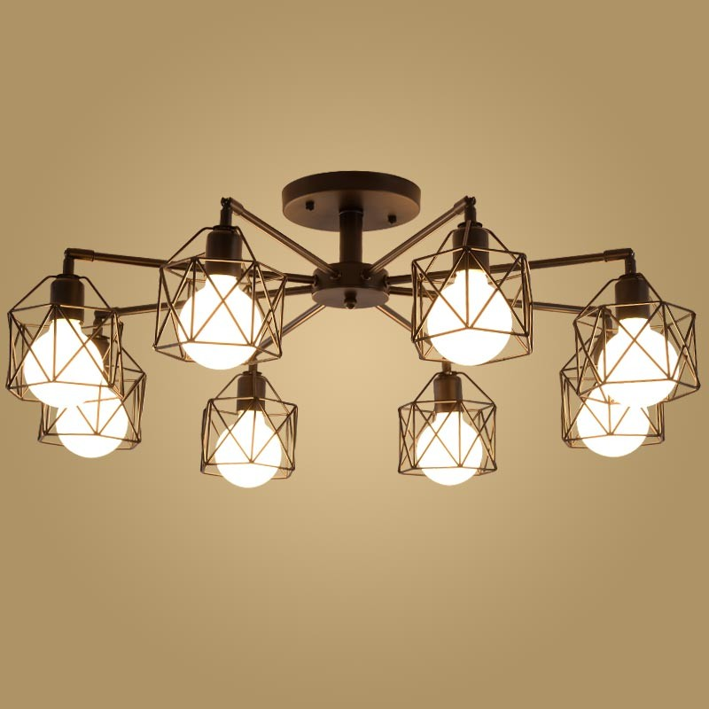 ФОТО Free shipping Modern Retro Chandelier for Kitchen Bedroom Hanging Antique Iron Chandelier American Style