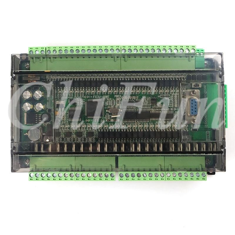 PLC industrial control board FX1N FX2N FX3U 48MT 6AD 2DA 24 input 24 Transistor output RS485