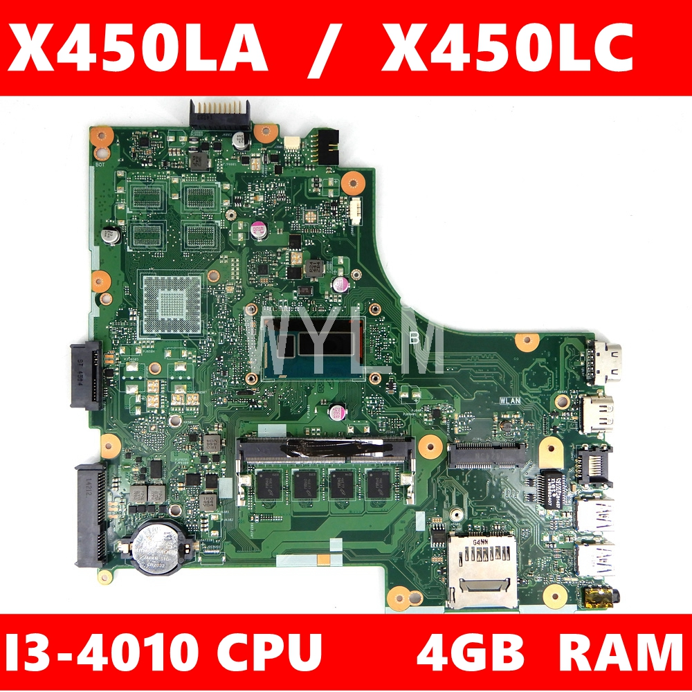 X450LA motherboard MAIN_BD I3-4010U/AS Onboard 4G <font><b>RAM</b></font> mainboard For ASUS A450L X450L X450LD X450LC Laptop motherboard Tested image
