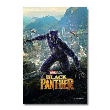 Плакат Гобелен Черная пантера Материал Шелк вариант 6