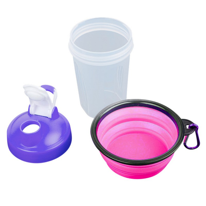 400ML Multifunction Pet Dog Feeder Drinker Travel Creative Suit Feeder For Dog Cat Outdoors Portable Folding Bowl Pet Product