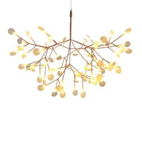 Ditoon Postmodern Led Chandelier Designer'S Lighting Living Room Bedroom Creative Art Tree Leaf Vintage White Warm Cool Luster