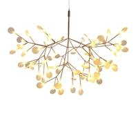 Ditoon Postmodern Led Chandelier Designer'S Lighting Living Room Bedroom Creative Art Tree Leaf Vintage White Warm Cool Luster