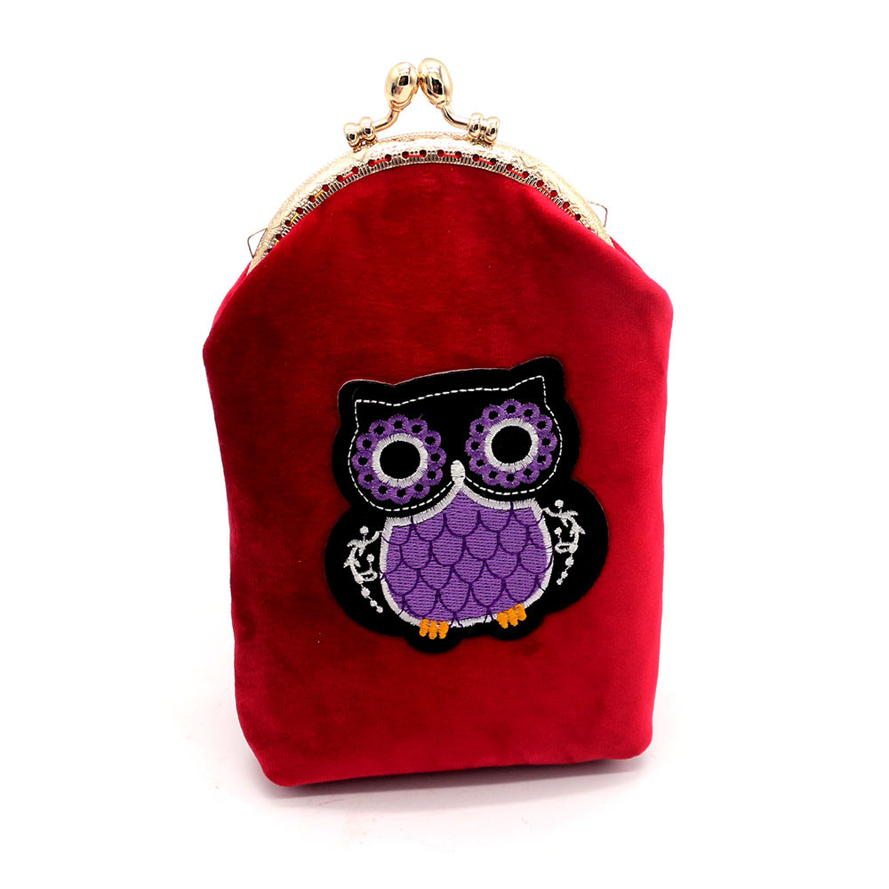 Women Lady Flannel Mini Wallets Girls Hasp Flap Coin Purse Clutch Bag Phone Key Change Bag Printing Owl monederos kawaii