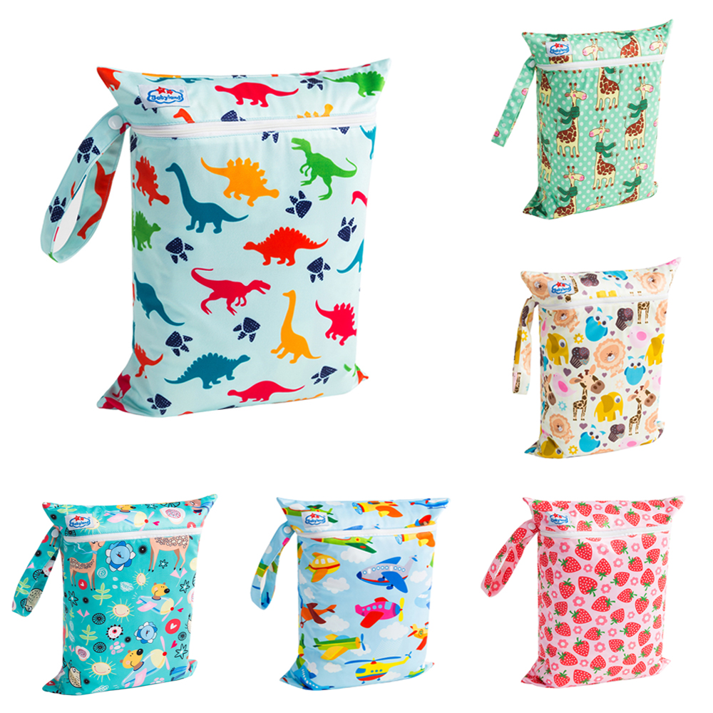(50pcs )Manufacturer's Price Babyland Zipper Wetbags Waterproof Multi Function Bags Newest Designs Diaper Bags Easy Travel Bags-in Diaper Bags from Mother & Kids    3