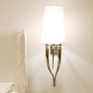 new arrival Classic horn wall lamp individuality brief modern bedside wall lamp project light high 55cm